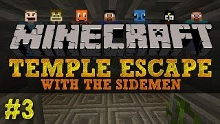 Minecraft Temple Escape #3 with The Sidemen (Minecraft Trolling)