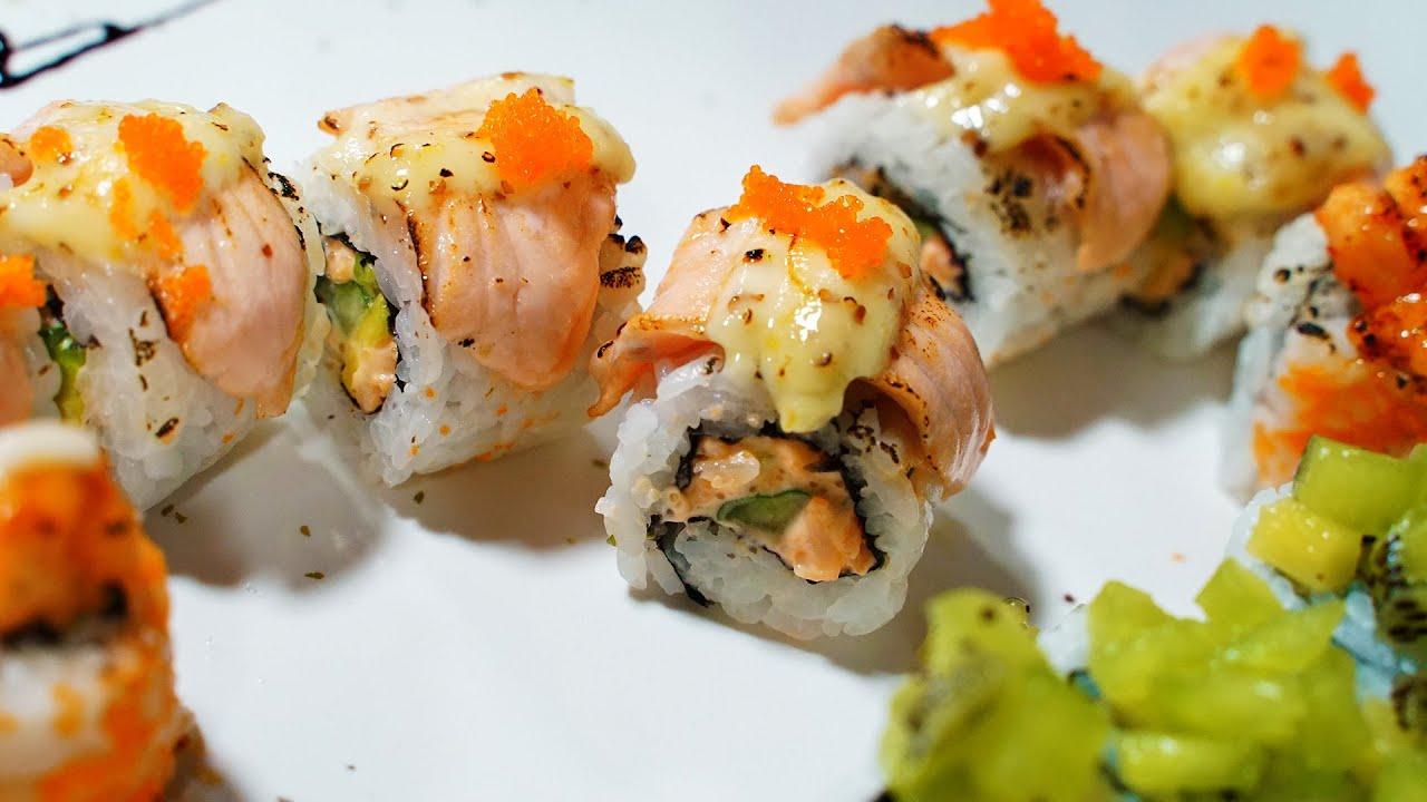 Salmon Sushi│California Roll│Shrimp Hand Roll║Tucheng, New Taipei City, Taiwan