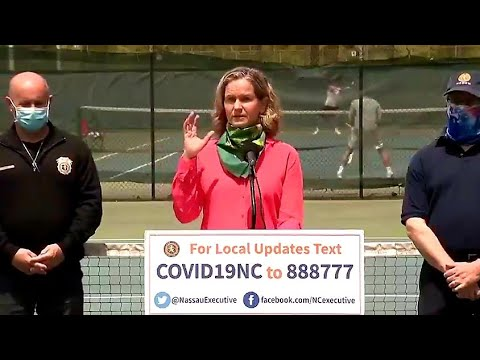 Nassau County Laura Curran's Funny Address Tennis Balls Guidelines Amid Covid-19 Pandemic
