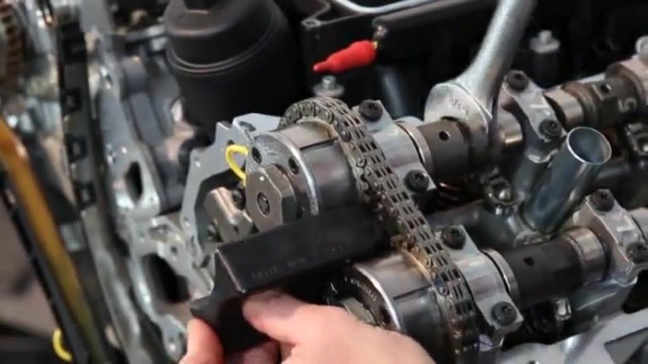 chrysler pentastar v6 3 0l 3 2l 3 6l engine timing chain and sprockets installation [ 1280 x 720 Pixel ]