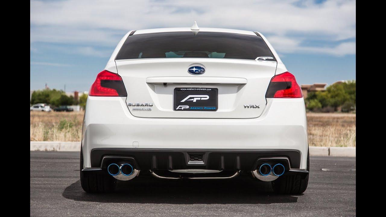 2015 Subaru Wrx Exhaust >> Agency Power 2015+ Subaru WRX Complete Turbo Back Exhaust Sounds - YouTube