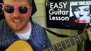 Louis Tomlinson - Kill My Mind // easy guitar lesson tabs easy chords beginner tutorial