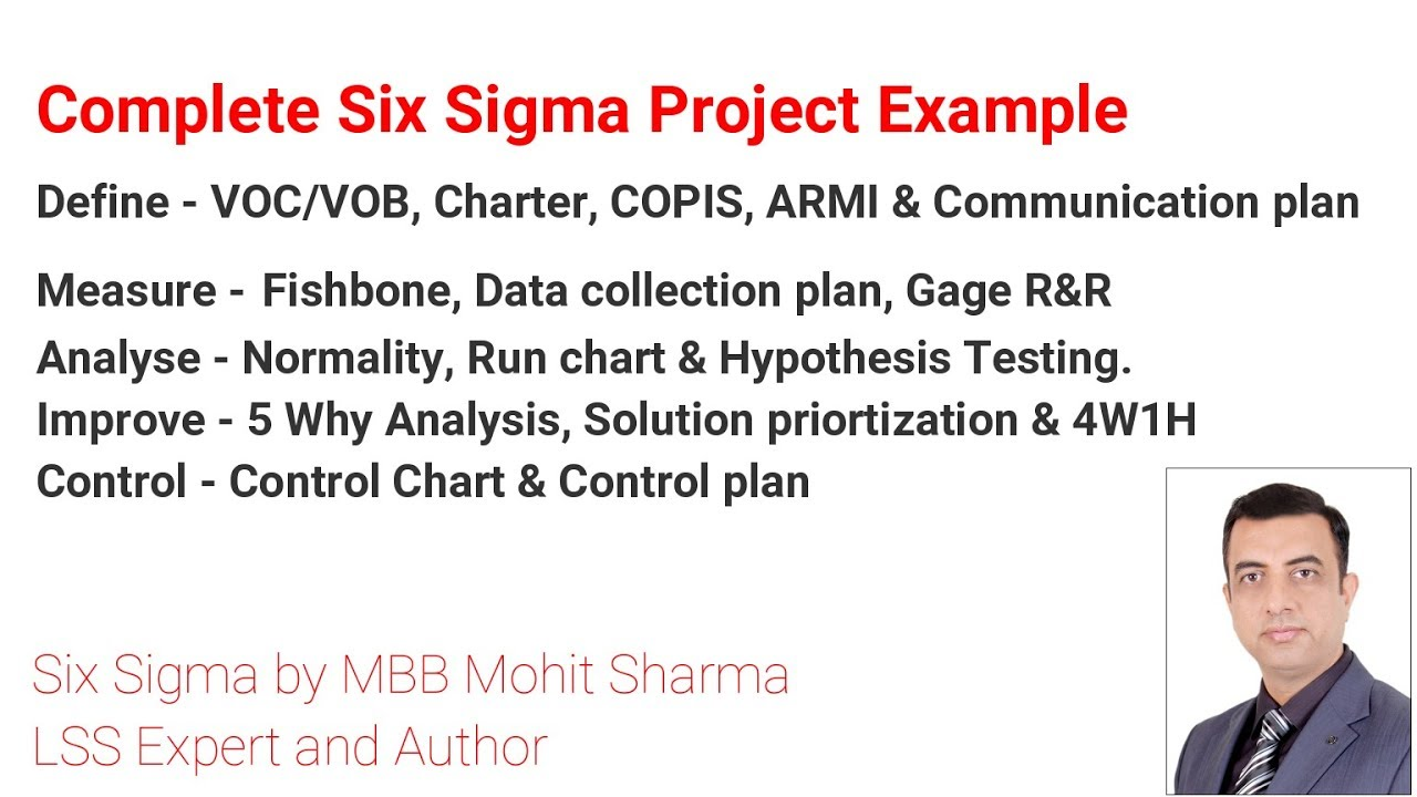 Complete Six Sigma Case study Defect Reduction   BPO   YouTube