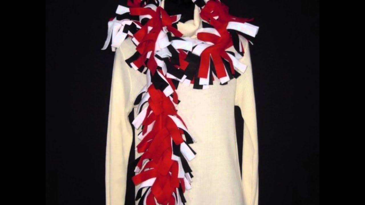 fringe fleece scarves new - YouTube