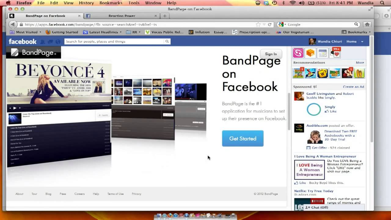 how to create band page on facebook