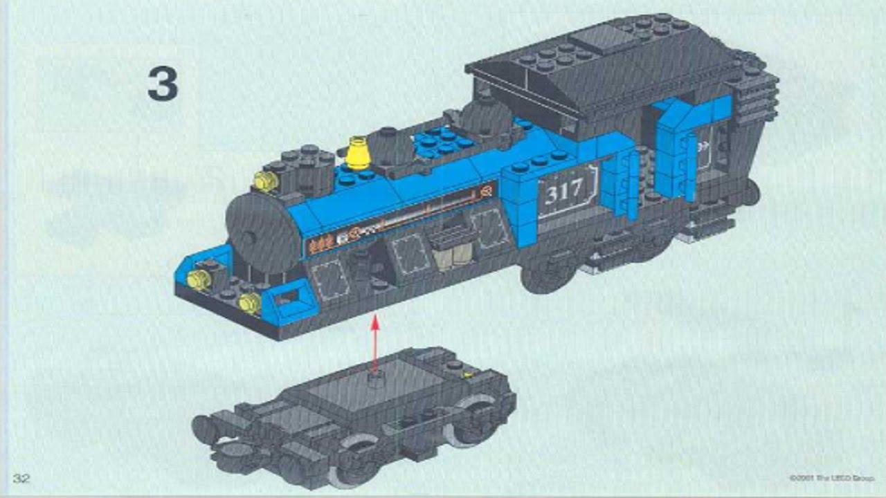 lego steam train instructions