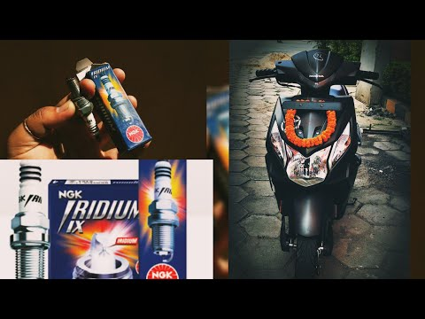 NGK IRIDIUM SPARK PLUG INSTALLATION FOR ALL SCOOTY| BETTER AVERAGE, ACCELERATION, SMOOTHNESS| DIO