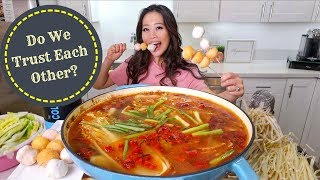 SPICY CHILI HOT POT MUKBANG | Eating Show