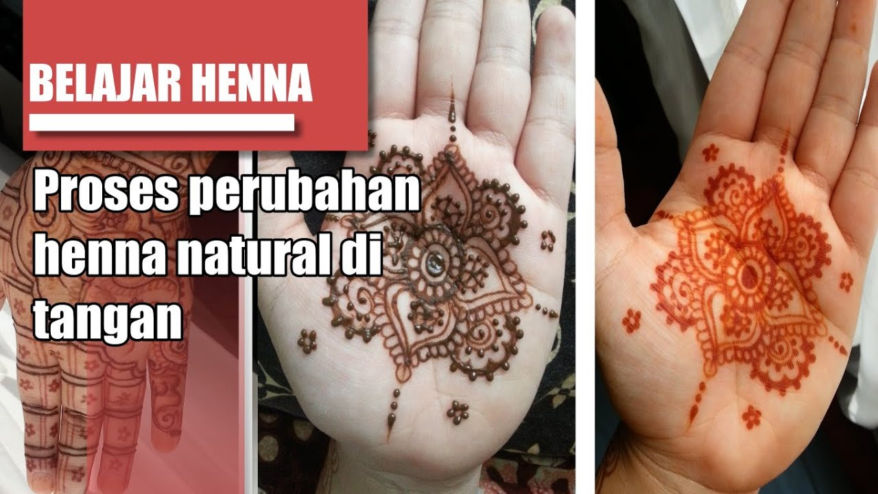 Mehndi Simple Di Telapak Tangan : Belajar henna peroses natural pada tangan youtube