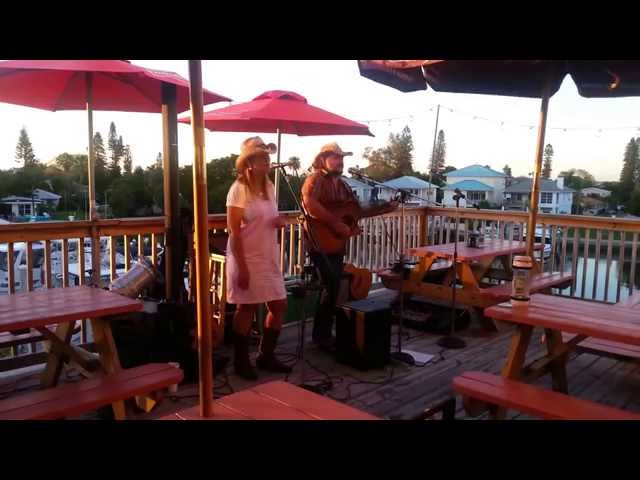 Wagon Wheel and White Lighting at Mad Beach Fish House Maderia Beach FL