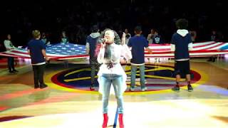 Cicely O'kain sings The Black National Anthem at Nuggets vs OKC game 2/26/19