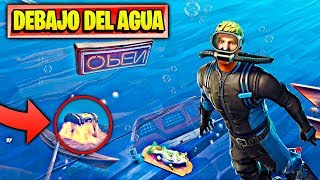 UNDER WATER WITH NEW SECRET ZONES AND COFRES **SEASON 7** at FORTNITE