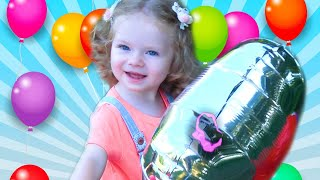 Balloon in the sky song |Kids song and nursery Rhymes about balloon. Along with Sasha Kisa channel