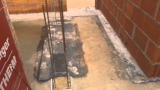 Wymurowanie ścian parteru z pustaków ceramicznych