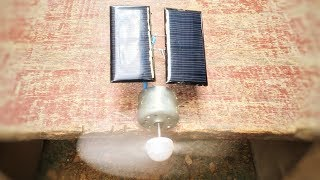 How Make Solar Using Free Energy Generator With Fan 100% , Science Project At Home