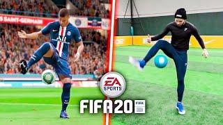 JE REPRODUIS  LES GESTES DE FIFA 20 DANS LA VRAIE VIE (avec AF5)