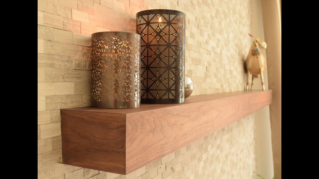 Building a Fireplace Mantel - Floating Shelf - YouTube
