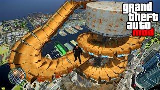 """HUGE SPIRAL RAMP JUMP"" GTA Mods & Biggest Stunts! (GTA IV Mod)"