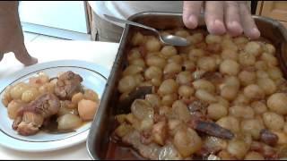Original Greek Rabbit Stifado (stew), By Chef Andros.