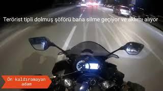 Ayna kıran Türk motorcular