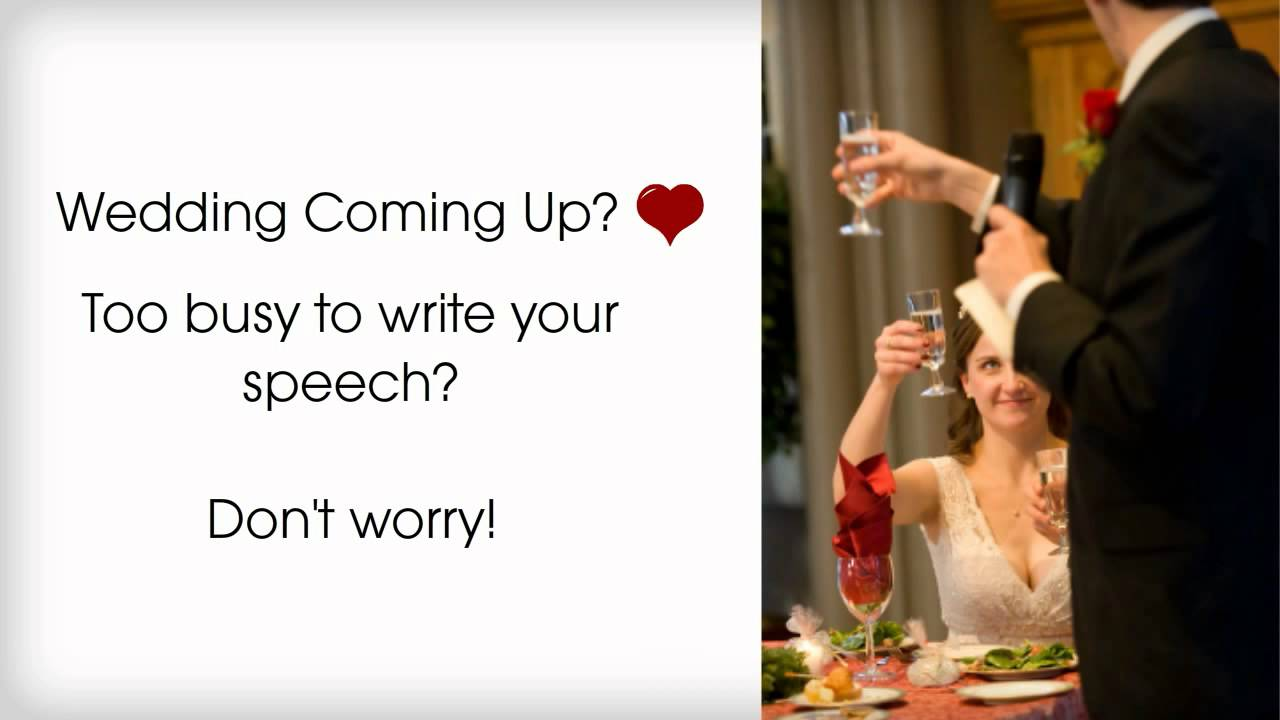 how to write wedding speeches How to write the perfect wedding vows and speeches on bridestory blog wedding vows are as essential to a wedding ceremony as a wedding speech is to a wedding.