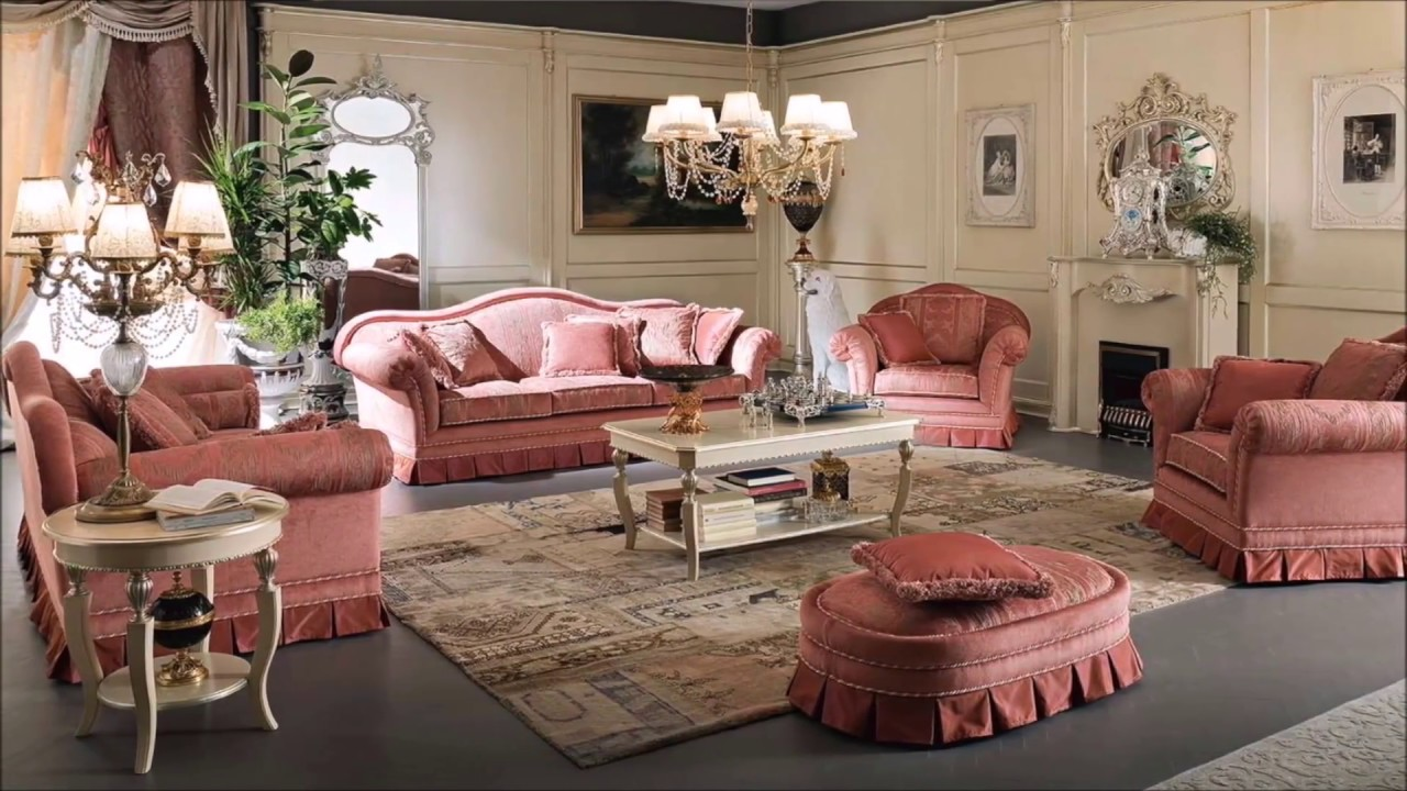 Classic living room luxury interior design & salon home decor - YouTube