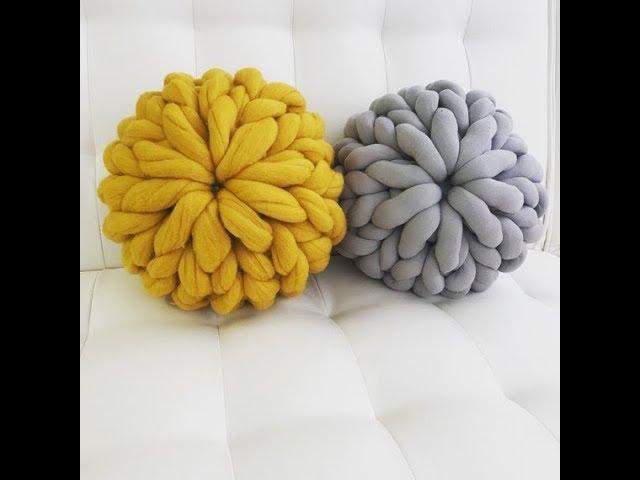 hand knit a chunky knit merino wool