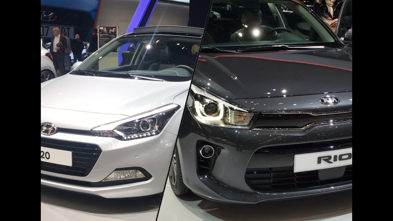 Hyundai I20 Vs Kia Rio Youtube