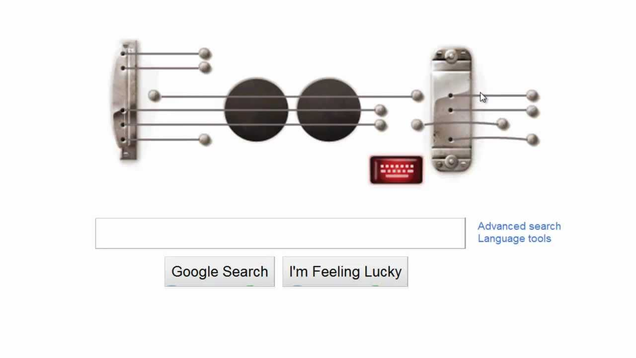 Les Paul S Guitar Chords In Google S Home Page Les Paul