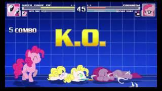 2x Super Pinkie Pie VS Pinkamena & Nightmare Sparkle