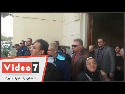 وزيرة الثقافة والعدل وزكى وحميدة وحامد يشاركون فى جنازة على أبو شادى  - 13:22-2018 / 2 / 17