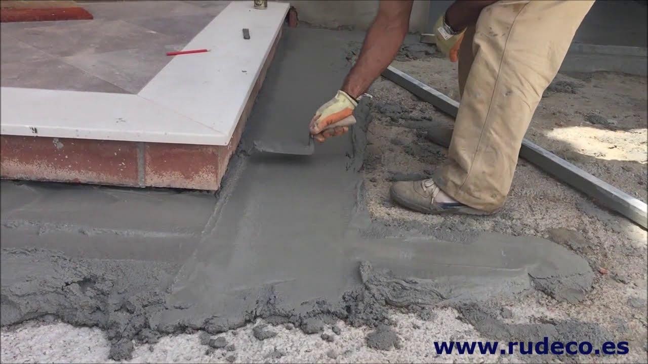 Nivelado de mortero de cemento v deo 2 youtube - Como hacer brillar el piso de cemento ...