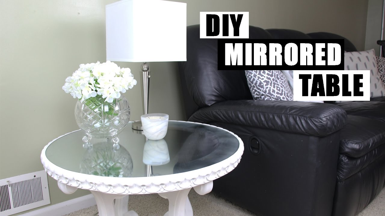 DIY Mirror Furniture | How To Turn Glass Into A Mirror | DIY Mirrored  Nightstand Side Table   YouTube