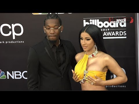 Cardi B and Offset arrive at 2019 Billboard Music Awards Red carpet. http://bit.ly/2MJHVaw