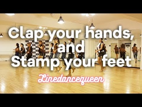 Clap Your Hands and Stamp Your Feet Line Dance (Marie Sørensen) Easy Improver Demo & Count