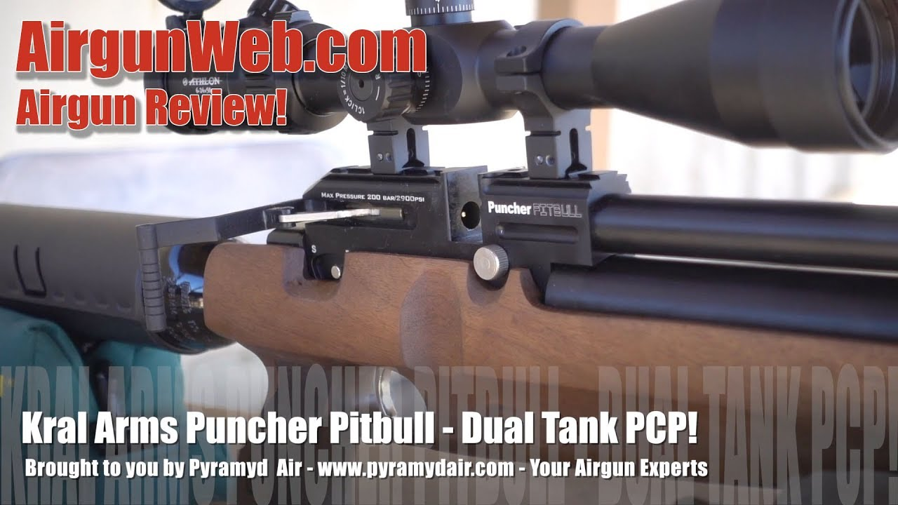 Kral Puncher Pitbull  22 caliber with Dual Air Tanks! - Airgun Review by  AirgunWeb