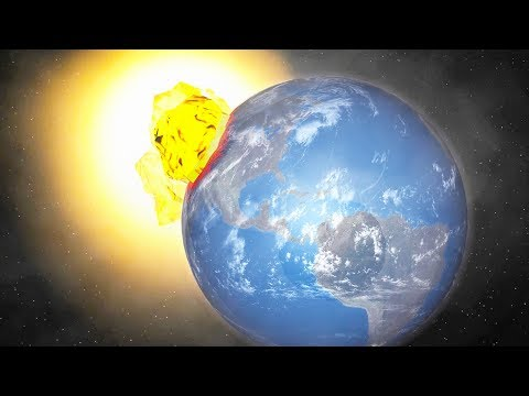 When a Grain of Sand Hits Earth at 100,000,000x Light Speed - Universe Sandbox 2