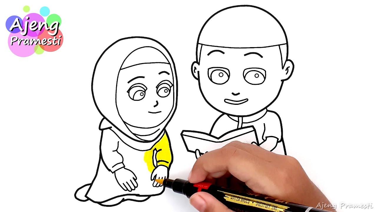 Mewarnai Gambar Kartun Islam Nussa Dan Rara Youtube