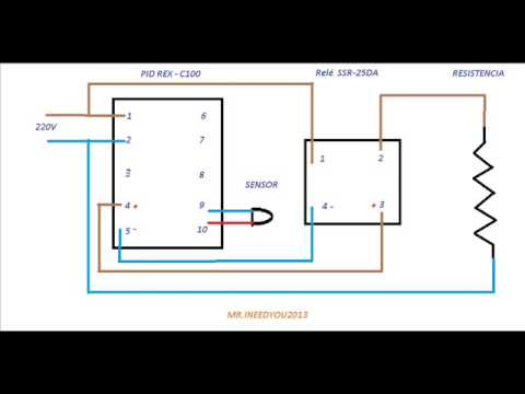 hqdefault liga�oes pid rex c100 youtube rex c100 wiring diagram at n-0.co
