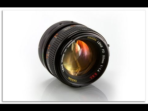 Canon FD to EF Lens adapter. How to use it