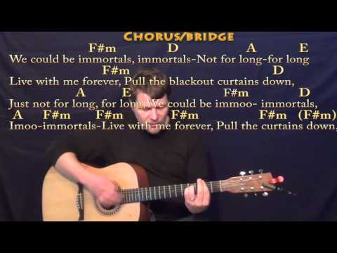 Immortals (Fall Out Boy) Strum Guitar Cover Lesson in F#m with Chords/Lyrics
