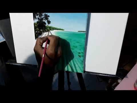 MALDIVES. Artist. Beach View