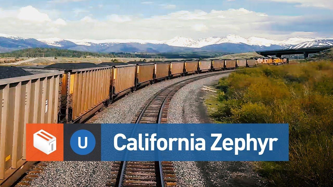 Map Of California Zephyr Route.California Zephyr Route Denver To Glenwood Springs Timelapse