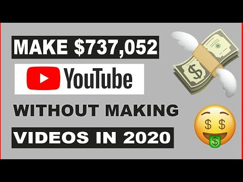 💰MAKE $737,052 PER YEAR ON YOUTUBE WITHOUT MAKING VIDEOS
