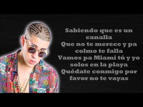 EL AMANTE RemixNicky Jam ft Ozuna y Bad Bunny (LETRA)