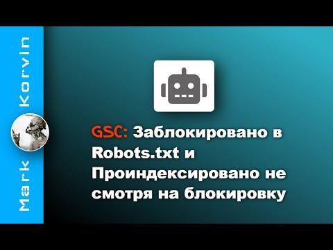 Заблокировано в Robots.txt - проиндексировано несмотря на блокировку