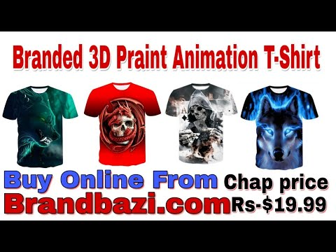 Buy Branded T Shirt - Wolf 3D Print Animal Cool Funny T-Shirt - #Brandbazi