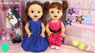 Muñecas Baby Alive visten de PRINCESAS 🎀Gemelas SARA y SARITA en BB Juguetes thumbnail