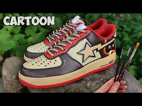 Custom CARTOON Bapesta Kanye West