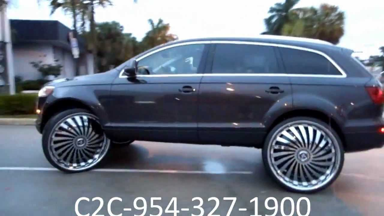 "AceWhips.NET-C2C Customs- 2011 Audi Q7 Truck on 30"" DUB Swyrl Floaters - YouTube"